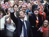 Tony Blair in 1997 election