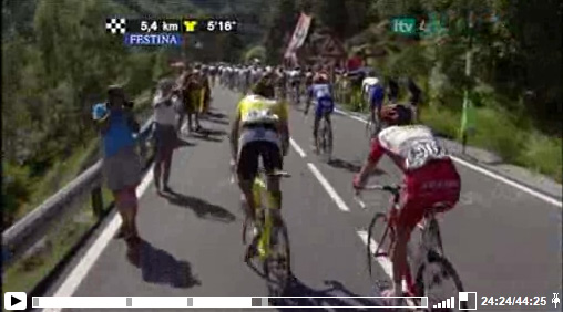 2009-07-10 Tour de France on ITV Player