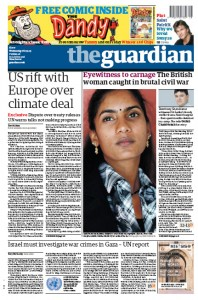 2009-09-16 Guardian 16 Sep 2009 front page
