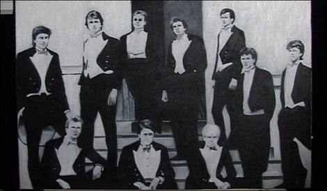 2009-10-08 Newsnight Bullingdon Club painting