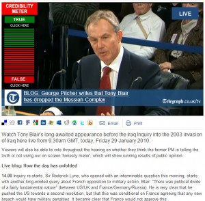 2010-01-29. Telegraph Chilcot Inquiry live