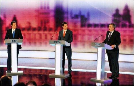 2010-04-30. general election leaders' debate