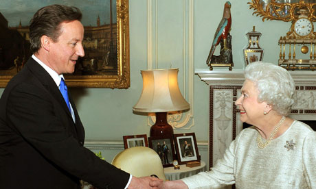 2010-05-12. The Queen Greets David Cameron