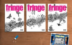 2010-08-13. Fringe programme cover designed by Johanna Basford and Whitespace