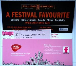 2010-08-13. Fringe Tickets jacket, 爱丁堡边缘艺术节2010票夹