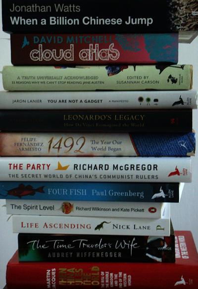 2010-08-15. Books I've been reading