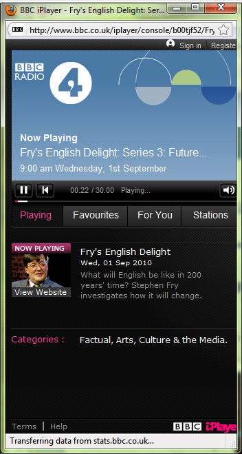 2010-09-07.iPlayer. Playing