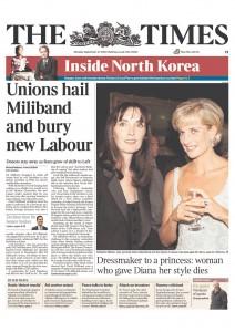 2010.09.27. 《泰晤士报》头版