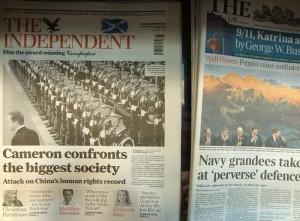 2010年11月10日《独立报》头版