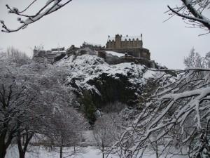 爱丁堡城堡雪景