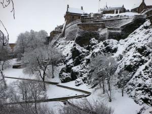 爱丁堡城堡雪景 2