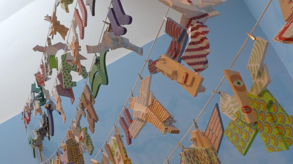 David Jones 以晾衣绳为灵感的作品
