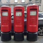 Postboxes on Hanover Street of Edinburgh