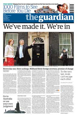 Guardian front page 2006-06-29