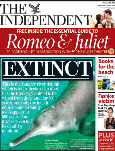Independent front page