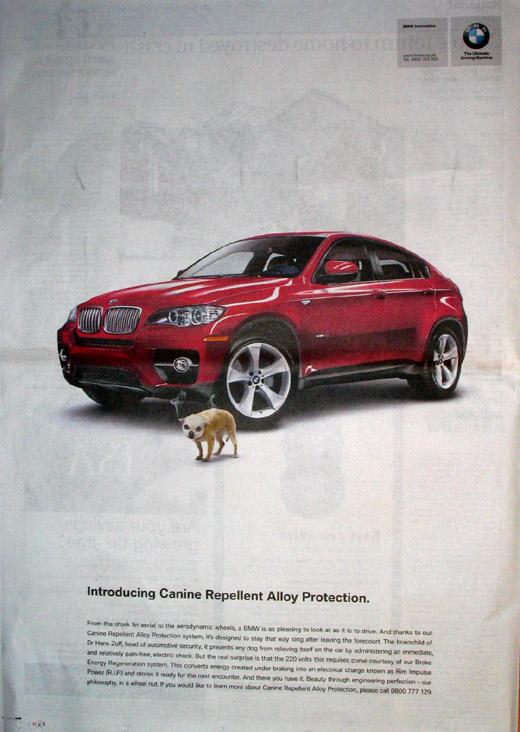 BMW April Fool Ads