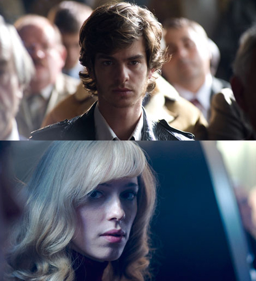 Andrew Garfield and Rebecca Hall in The Red Riding