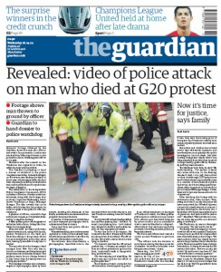 Guardian frontpage 2009-04-08