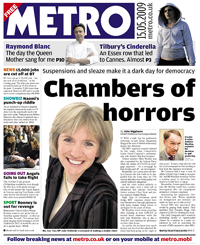 2009-05-15 Metro front page