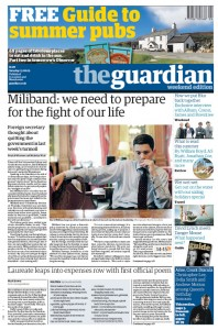 2009-06-13 Guardian front page