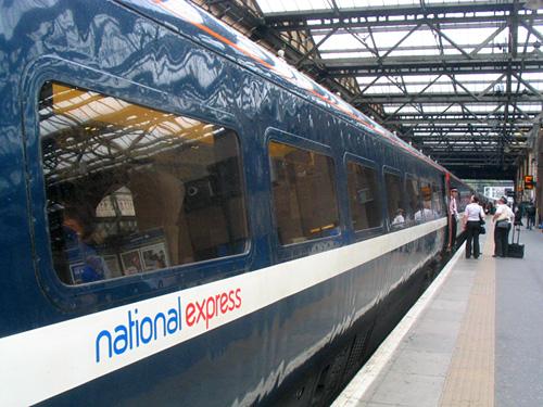 2009-07-03 National Express train at Edinburgh Weverley