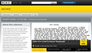 2009-10-29 BBC Archive George Orwell files