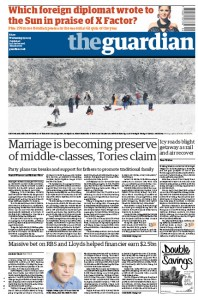 2009-12-23. Guardian front page