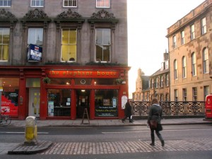 """Edinburgh. Elephant House claims to be the """"birth place of Harry Potter"""""""