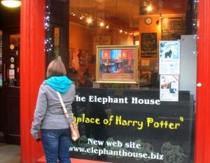 "Edinburgh. Elephant House ""Birthplace of Harry Potter""?"