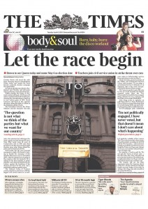 2010-04-06. The Times front page