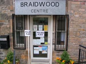 社区中心用作投票站