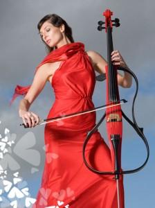 2010-08-06. Carol Thorns, Red Cello