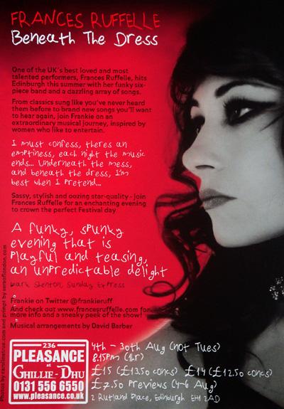 2010-08-29.Frances Ruffelle Beneath the Dress, Edinburgh Fringe