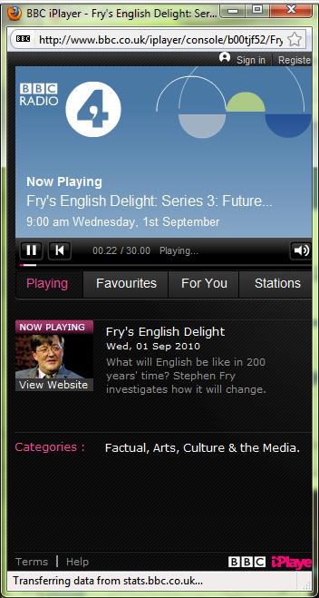 2010-09-07.iPlayer. Playing