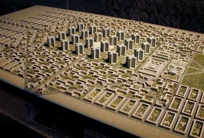 """勒·科布西埃(Le Corbusier)设计的""""光辉之城""""(Ville Radieuse)"""