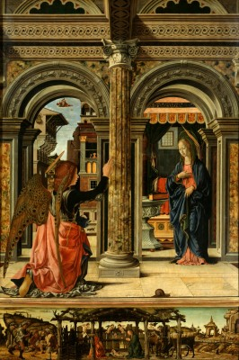 弗朗切斯科•德尔科萨(Francesco del Cossa)的油画《天使报喜》(The Annunciation)